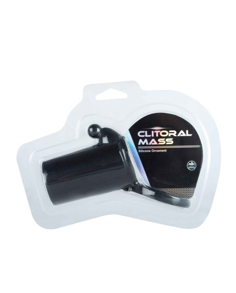 Clitoral Mass Silicone Ornament black