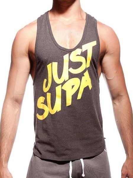 Supawear Just Supa Singlet Tank Top Black/Yellow