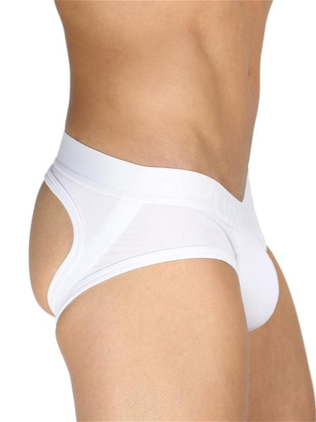 Rounderbum Jock Brief Underwear White