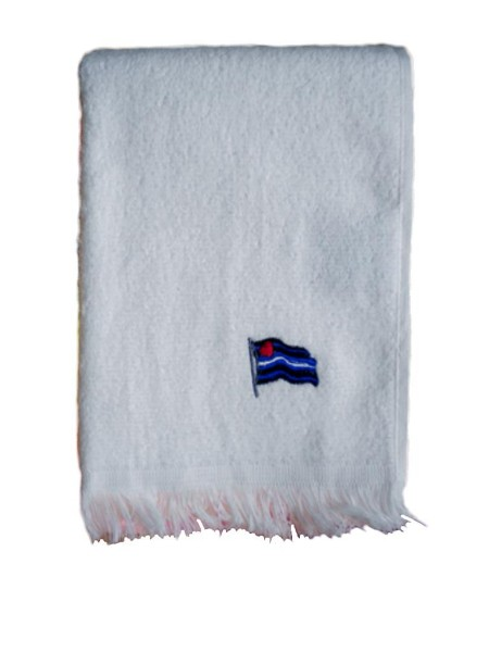 Leather Flag Towel/Handtuch White 28x43 cm / 11x17 inch