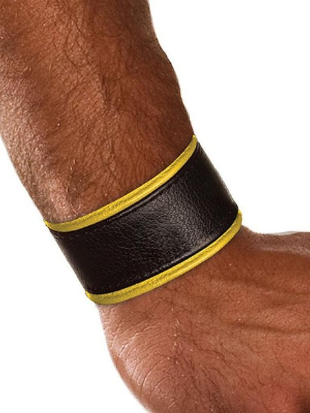 Colt Leather Wrist Strap - Yellow