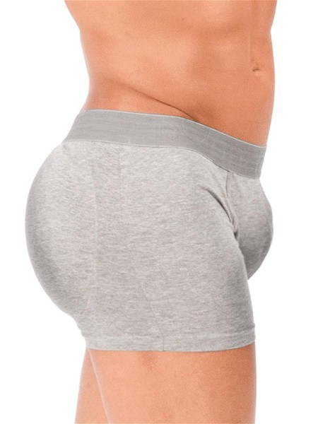 Rounderbum Padded Boxer Brief Underwear Grey